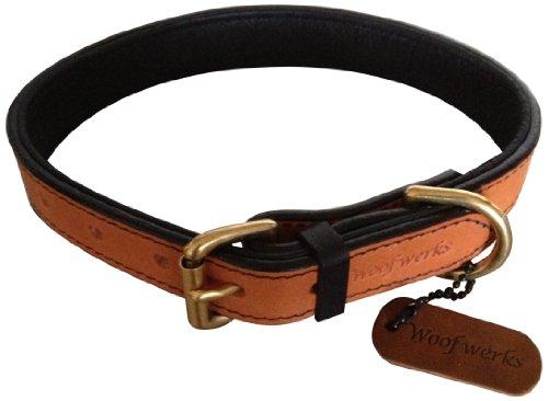 Woofwerks Loop Collar, 3/4-Inch by 16-Inch, Black/Tan
