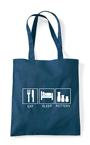 Tiles Funny Sleep Shopper Activity Hobby Tote Petrol Bag Pottery Eat qwtSxEw