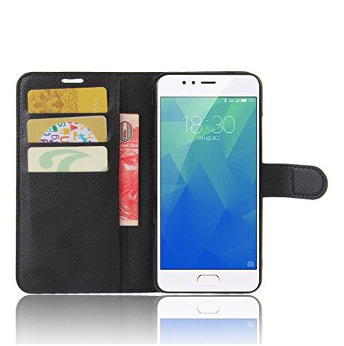 Funda MEIZU M5S ,Manyip Caja del teléfono del cuero,Protector de Pantalla de Slim Case Estilo Billetera con Ranuras para Tarjetas, Soporte Plegable, Cierre Magnético C
