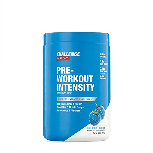 CHALLENGE By GNC Pre-Workout Intensity, Blue Frostberry, 15.9 Ounce (Performance Nutrition Center)