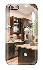 Fashion JxjChFd9578VSXRz Case Cover For Iphone 6(kitchen With Wood Cabinets Modern Lights Amp Hood)
