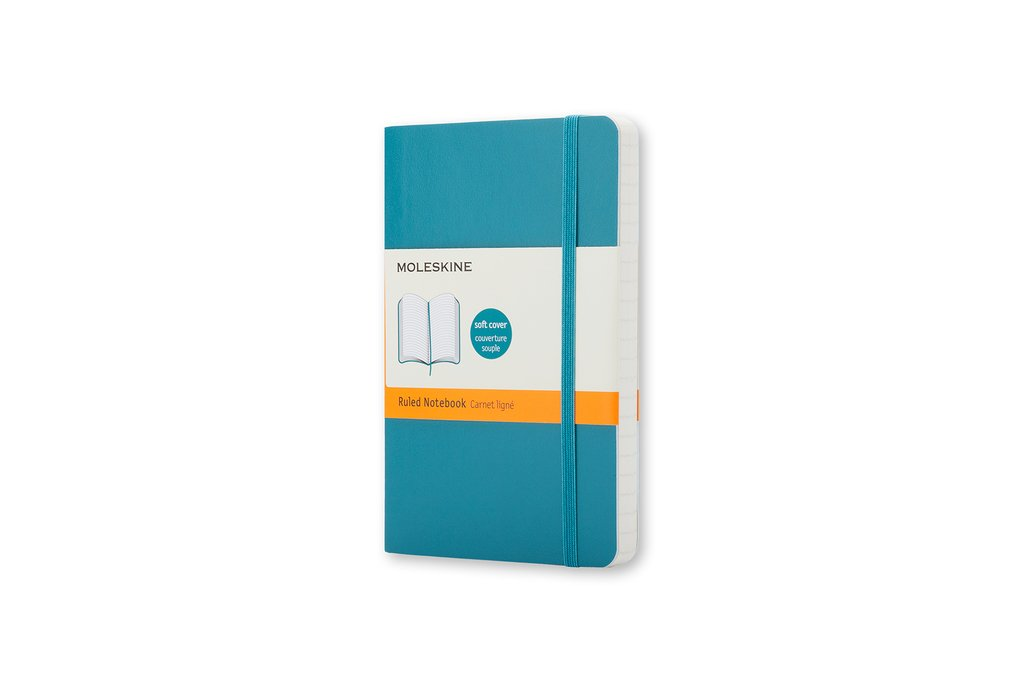 Moleskine Classic Colored Notebook, Pocket, Ruled, Underwater Blue Moleskine Spa QP611B6 Handicrafts Arts & Crafts