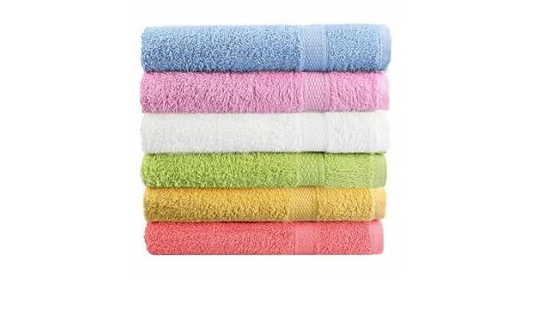 80 x 50 cm algodón suave baño playa toalla súper absorbente suelto cara Terry Toalla: Amazon.es: Hogar