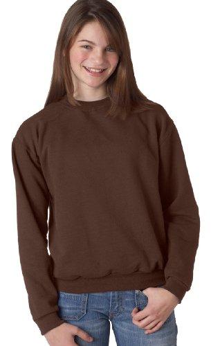 - Jerzees Youth NuBlend Fleece Crewneck Sweatshirt-S (Chocolate)