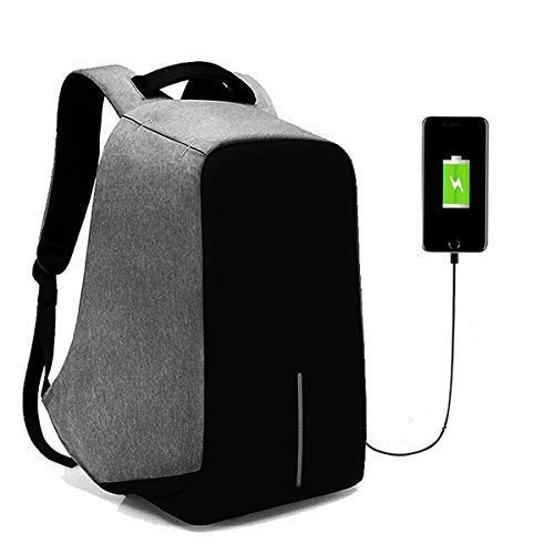 BUCKETLIST® Anti Theft Waterproof Business Travel Laptop Bag with USB Cable and Built in Charging Port for College and…