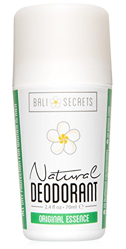 Bali Secrets Natural Deodorant – Organic & Vegan – For Women & Men – All Day Fresh – Strong & Reliable Protection – 2.4 fl.oz/70ml [Scent: Original Essence]