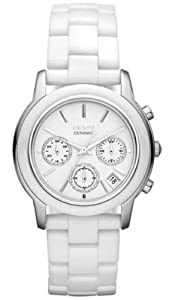 DKNY Chronograph White Ceramic Ladies Watch NY831 from DKNY