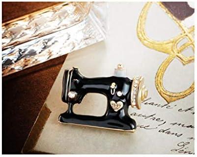 TAO Broches Broche de Niña máquina de Coser de época, un Material Multiusos, de aleación, Broche de Bufanda de Pin ...