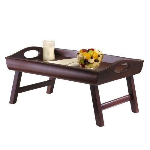 Generic O-8-O-1456-O op Hosp Folding Foldable able La Table Food olding Wood Bed Tray Table F Laptop Hospital Desk kfast S Breakfast Serving -