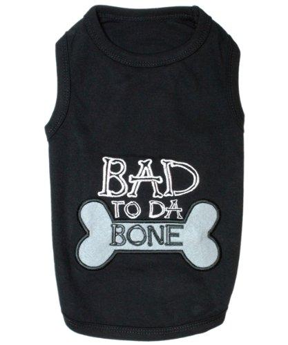 - Parisian Pet Bad to Da Bone Dog T-Shirt, M