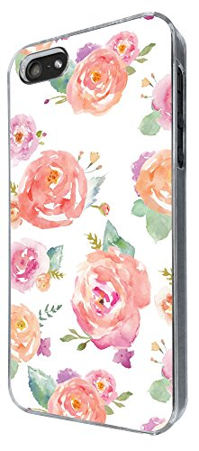 618 - Floral Shabby Chic Roses Design iphone 5 5S Coque Fashion Trend Case Coque Protection Cover plastique et métal