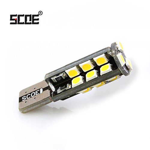 Crystal Side Marker - SCOE Auto Led Bulb Lamp T10 W5W DC12V 27-2835 SMD Wedge Type 169 194 2825 High Quality Bright Energy Saving Nichia Chips Used For Parking Side Marker Light Tail Light Pack of 1- Crystal Blue