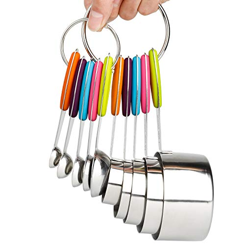 Measuring Cups and Spoons Set Stainless Steel of