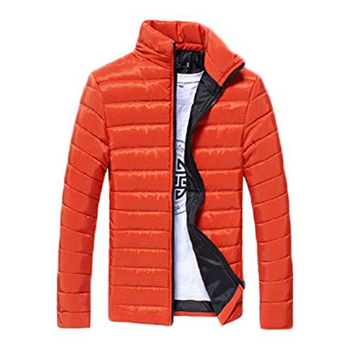 Larga Acolchadas Orange Trench Moda XL Sólido Algodón Manga Hombres Chaquetas Ccoco Invierno Coat wASnqZXFx1