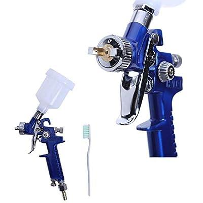Spray Guns - H 2000 Hvlp Mini Paint Gun 250ml Cup Capacity Aerograph 0 8m 1 0mm Nozzle - Cars Iwata Pressure Satajet Automotive Paint Air For 1.4mm 1.4
