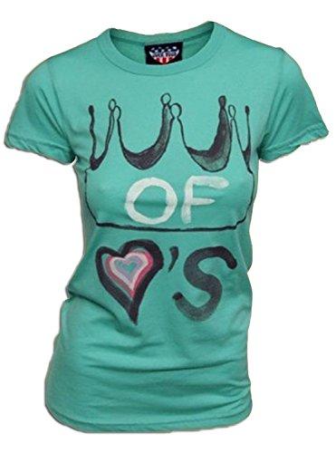 Junk Food Alice in Wonderland Queen of Hearts Seafoam Green Juniors T-shirt - T-shirt Queen Juniors
