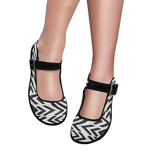InterestPrint Womens Comfort Mary Jane Flats Casual Walking Shoes w83LqDkQ