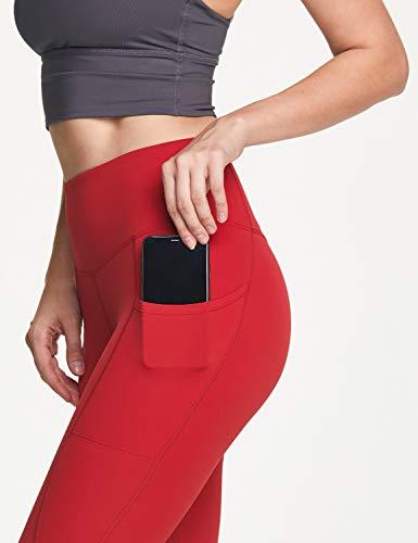 ATIKA Women's High Waist Yoga Pants with Pockets, Tummy Control Yoga Leggings, 4 Way Stretch Workout Running Tights