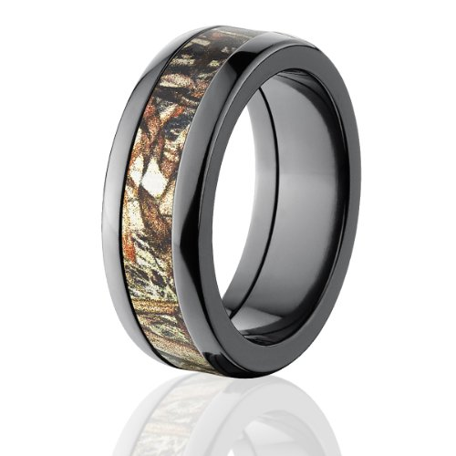 (Mossy Oak Rings, Camouflage Wedding Rings ,Duck Blind Camo Bands)