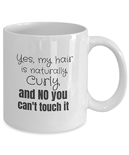 Naturally Curly Hair Coffee Mug - Attitude - Cup ()