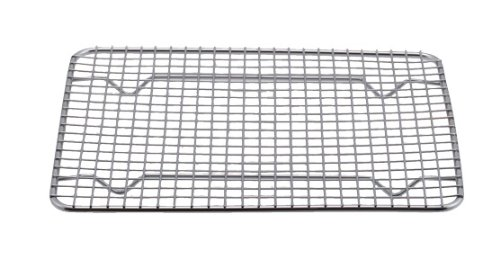 Professional Cross Wire Cooling Rack Half Sheet Pan Grate - 16-1/2'' x 12'' Drip Screen