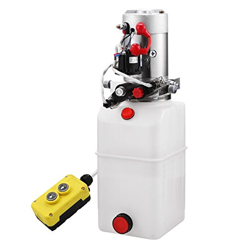 BestEquip Hydraulic Power Unit 6 Quart Double Acting Hydr...