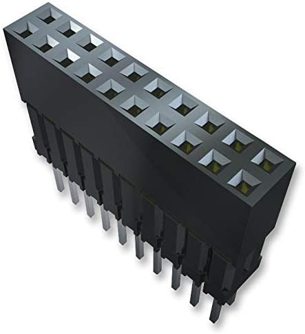 Pack of 20 ESQ Series 2 Rows, ESQ-103-37-S-D Board-To-Board Connector 6 Contacts Through Hole Receptacle 2.54 mm