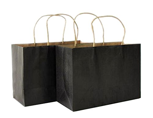 Halulu 100pcs Black 16x6x12 Inch Kraft Paper Bags Shopping Bag Gift - White In Shopping Plains