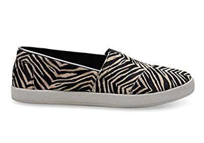 TOMS Women's Zebra Printed Calf Hair Avalon 10006320