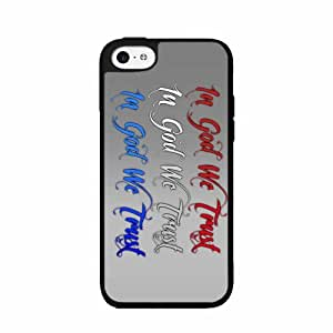 In God We Trust- SILICONE Phone Case Back Cover iPhone 5c