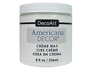 Decoart DECADM-36.13 Amerdecorcremewax 8oz White Americana Decor Creme Wax 8oz White