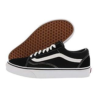 Vans Unisex Old Skool Skate Shoe (8.5 B(M) US Women / 7 D(M) US Men, Classic Black/White)