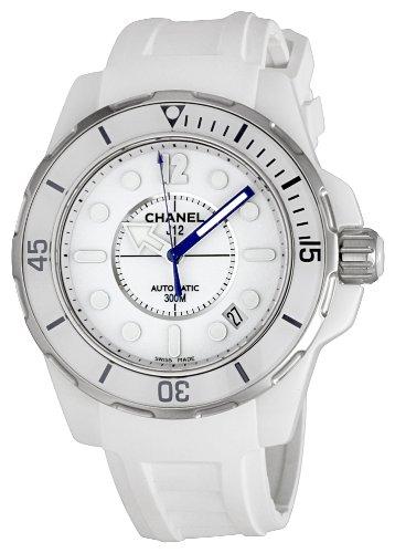 Chanel Women's H2560 J12 White Rubber Strap Watch