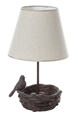 Creative Co-Op Resin Bird's Nest Lamp with Shade, 9.5