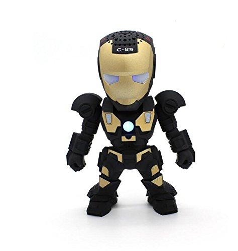 Iron Man Wireless Bluetooth Speaker C-89 LED Mini Portable Kids Iron Man Speaker