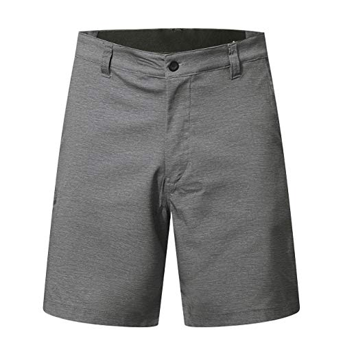 PULI Men Dress Casual Shorts Loose Fit Outdoor Golf Hiking Polyester Grey XXL 38