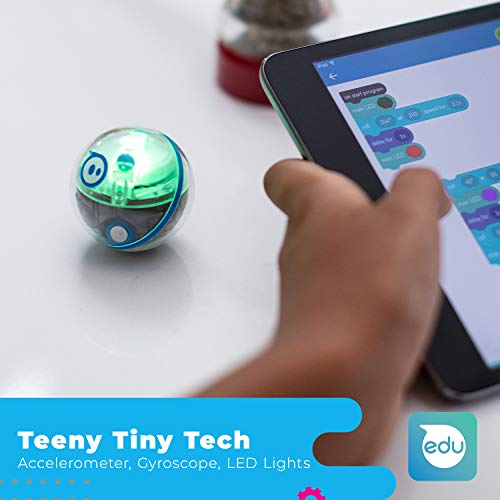 Sphero Mini Activity Kit: App-Enabled Programmable Robot Ball with 55 Piece Construction Set - STEM Educational Toy for Kids Ages 5 & Up - Drive, Game & Code Play & Edu App