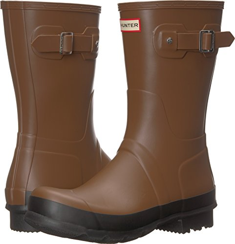 Hunter Men's Original Short Rain Boot Soil/Black 10 M US by Hunter