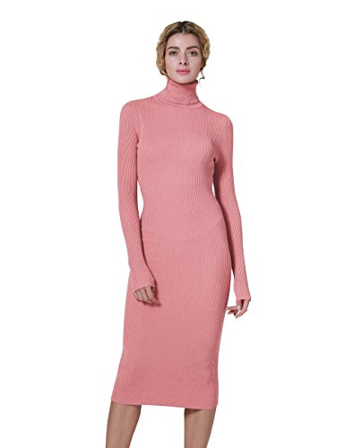 ninovino Women Long Sweater Dress Ribbed Slim Fit | Ladies Long Sleeve Sweater Dresses