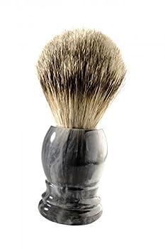 Shaving Brush Grey marble Badger Silvertipp by korium