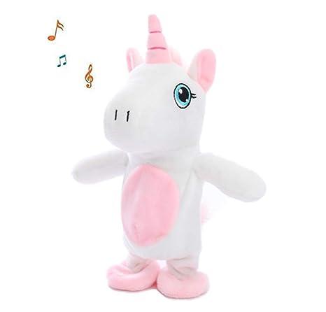 Amazon.com: SLONG Unicornio Peluche interactivo eléctrico ...