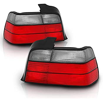 DNA Motoring TLE364DRDCL Tail Light for BMW E36 3-Series 4dr TL-E364D-RD-CL Driver /& Passenger Side