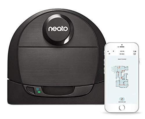 Neato Robotics D6 Connected Laser Guided Vacuum for Pet Hair, Works with Amazon Alexa, Black