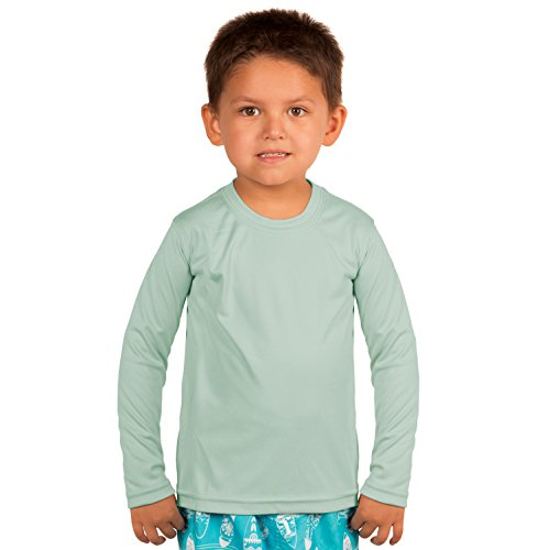 Vapor Apparel Toddler UPF 50+ UV/Sun Protection Long Sleeve Performance T-Shirt 3T Seagrass