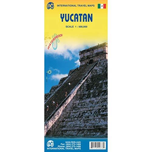 Yucatan 1:500,000 Regional Travel .Map (Incl. Cancun and Merida City Insets) (International Travel Regional Maps: Yucatan) (English and Spanish Edition)