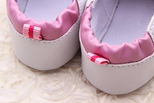 YICHUN Prewalker zapatos de bebé niñas flores cuna zapatos de bebé suave zapatos de ocio zapatos rosa rosa Talla:Sole Length:11cm/4.3 inches rosa