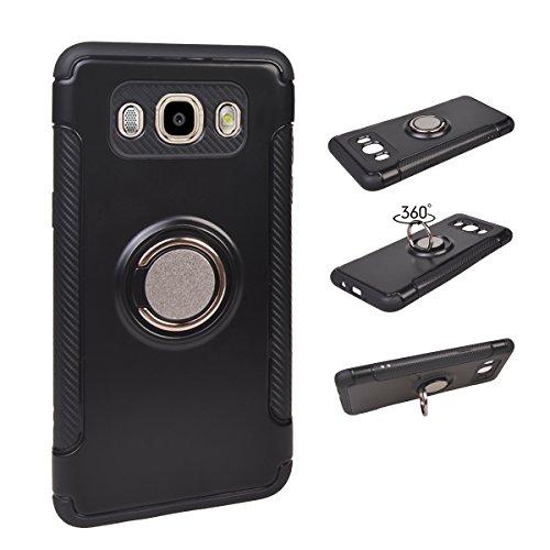 Slim Fit Hybrid Case for Samsung J5 (Black) - 5