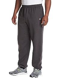Men's Big & Tall Fleece Athletic Pants Charcoal 3X Tall