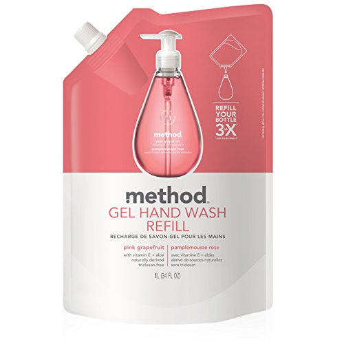 (Method Gel Hand Soap Refill, Pink Grapefruit, 34 Ounce)