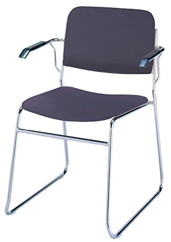 - KFI Seating 311 Stacking Chair Sled Base, Commercial Grade, Navy Vinyl, Made in the USA